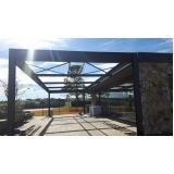 estrutura metálica para telhado preço São Roque