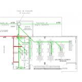 projeto hidráulico banheiro coletivo